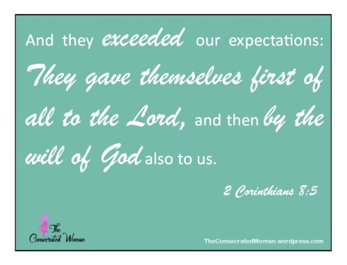 2 Corinthians 8 5