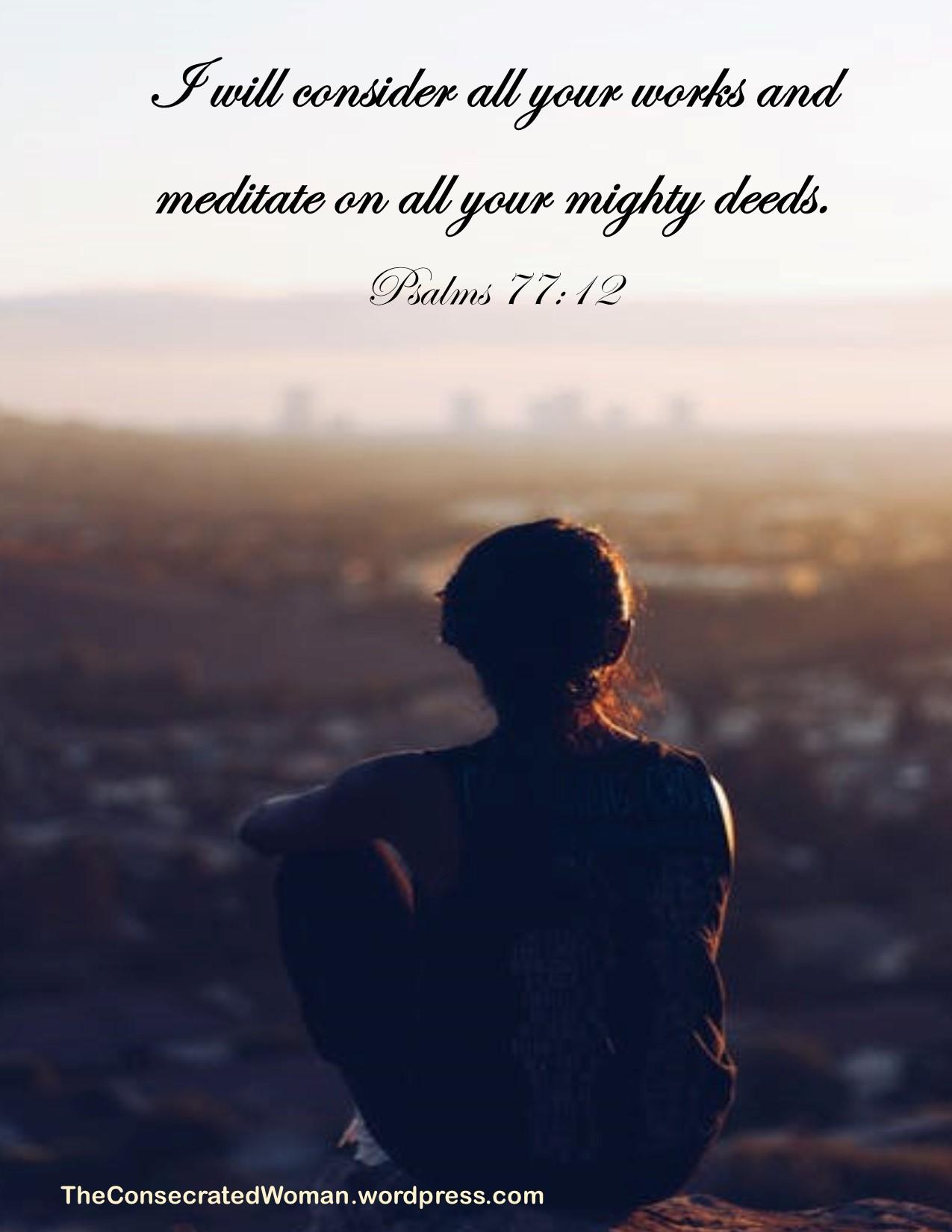 1 Psalms 77 12