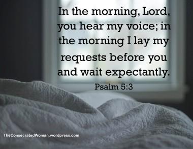 1 psalm 5 3