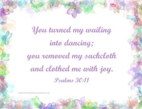 1 Psalms 30 11