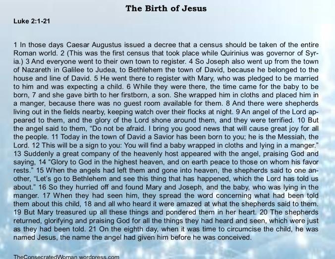 1 12-25 1 Luke 2 1-21