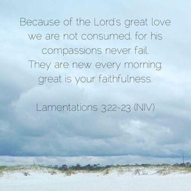 1 12-31 1 Lamentations 3 22-23