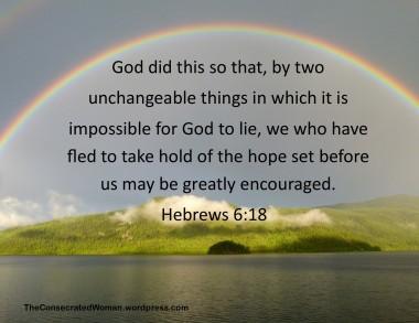 1 -17 18 Hebrews 6 18