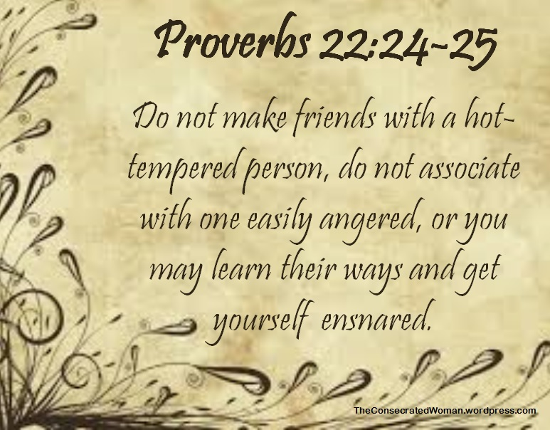 Proverbs 22 24-25