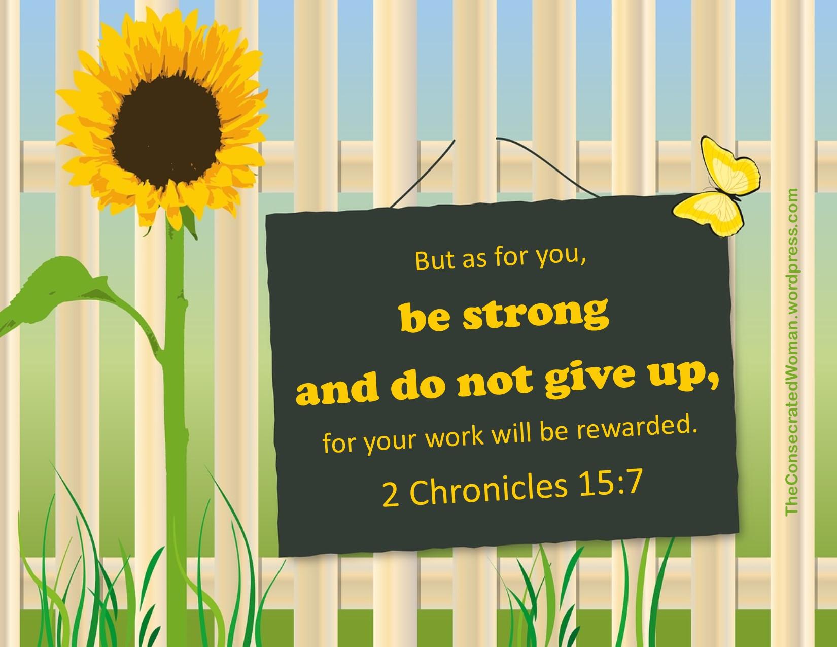 2 Chronicles 15 7