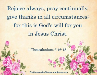 1 Thessalonians 5 16-18
