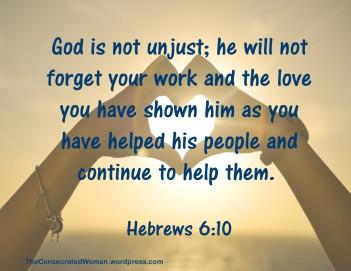 Hebrews 6 10
