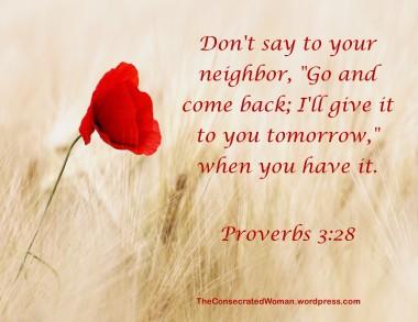 Proverbs 3 28