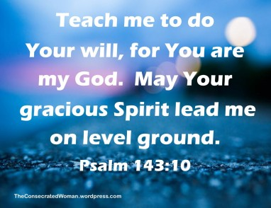 Psalm 143 10
