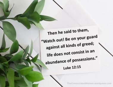 Luke 12 15