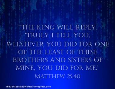 Matthew 25 40