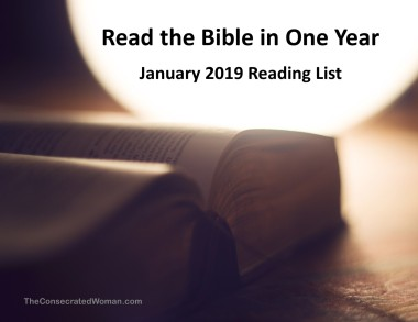 1 January 2019 Read the Bible in One Year Image