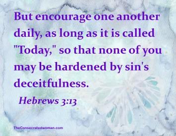 hebrews 3 13