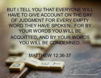 Matthew 12 36-37