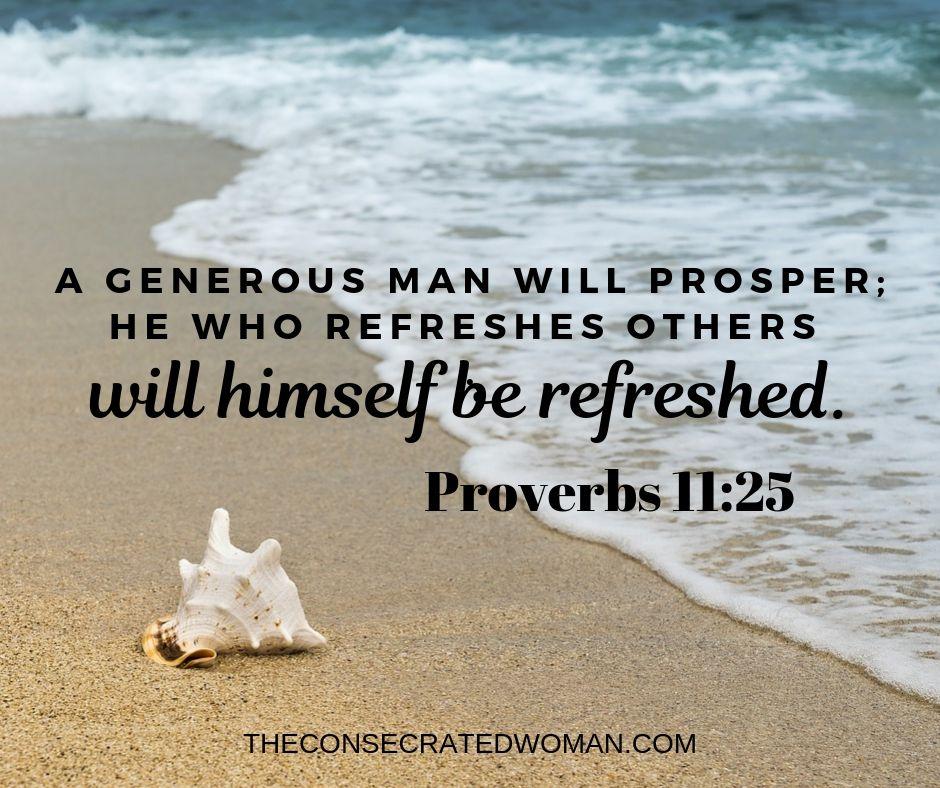 Proverbs 11 25
