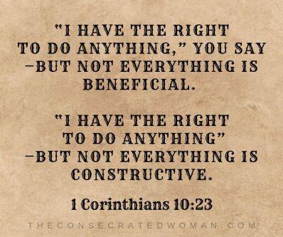 1 corinthians 10 23