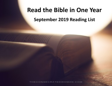 9 September Read the Bible in One Year Image
