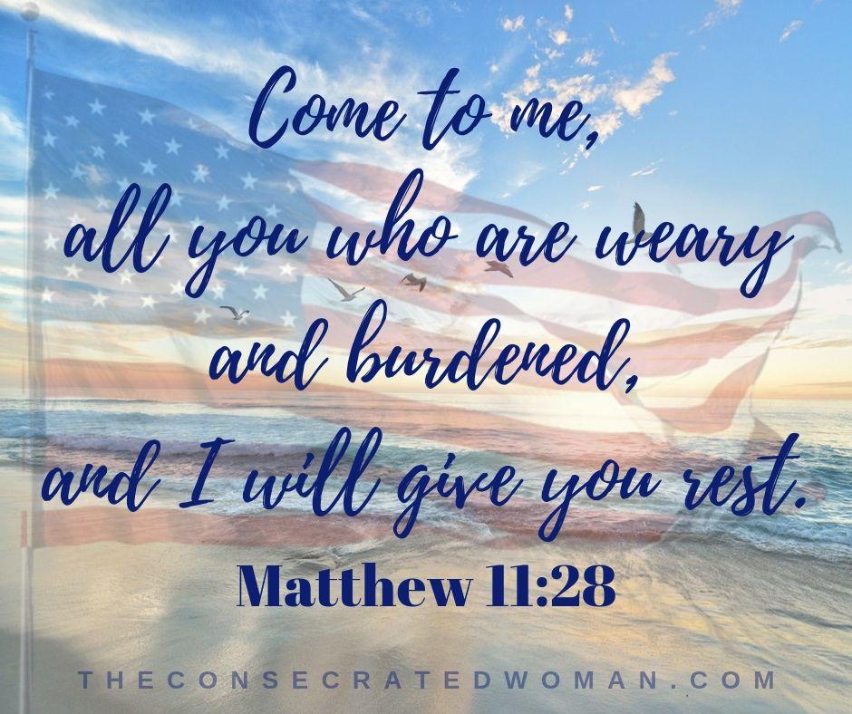 Matthew 11 28 Labor Day