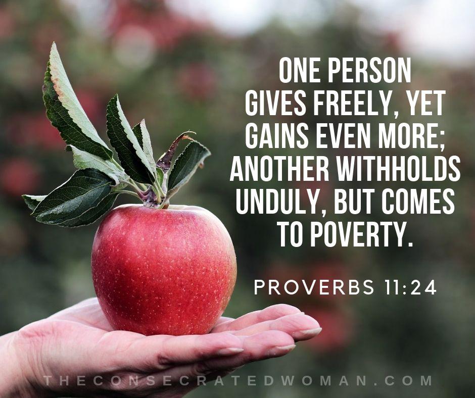 Proverbs 11 24
