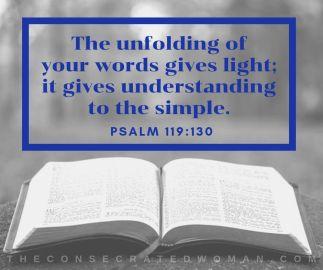 Psalm 119 130 2