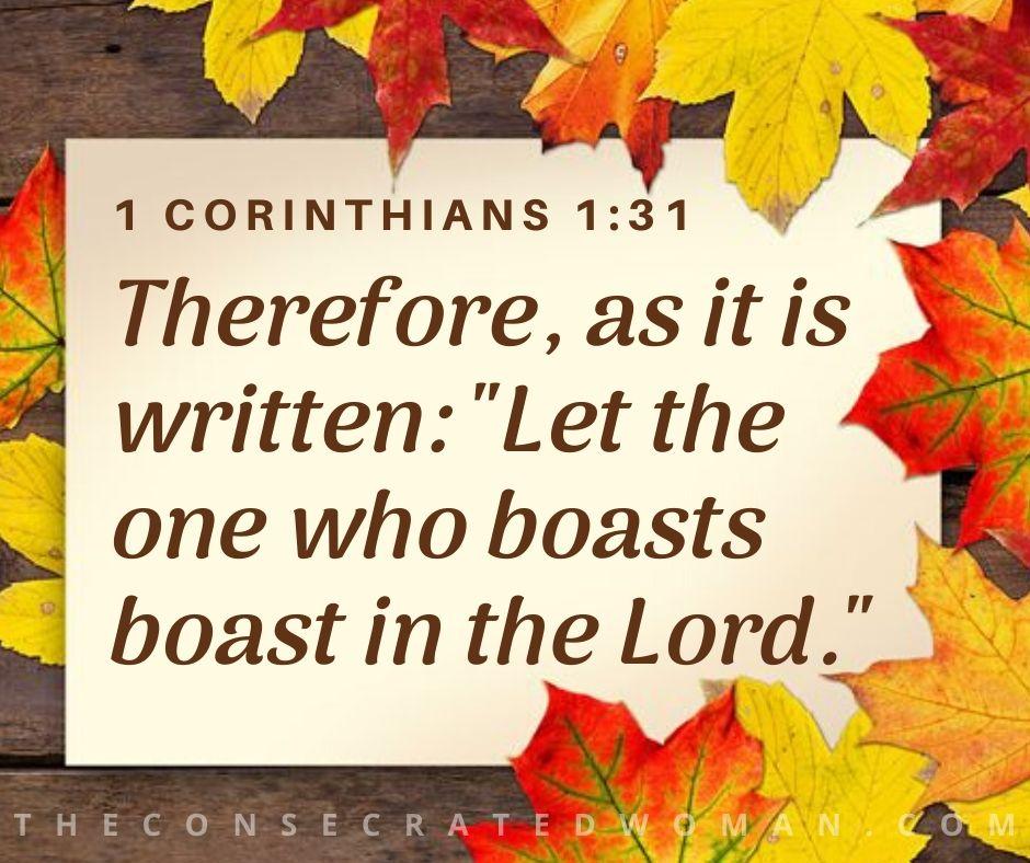 1 Corinthians 1 31