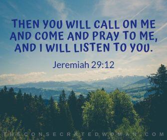 Jeremiah 29 12