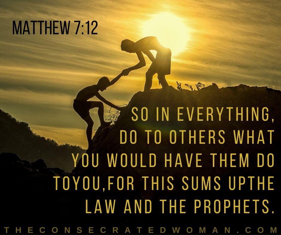 Matthew 7 12 2
