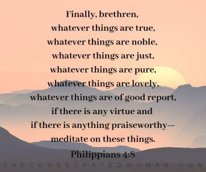 Philippians 4 8