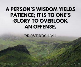 Proverbs 19 11 2