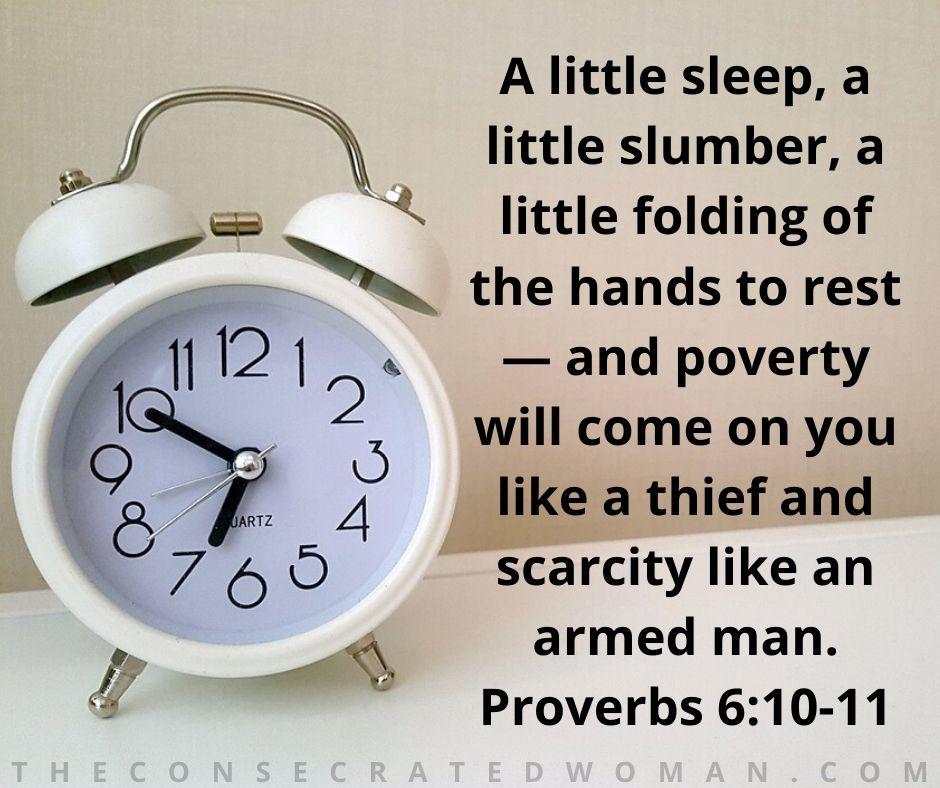 Proverbs 6 10-11