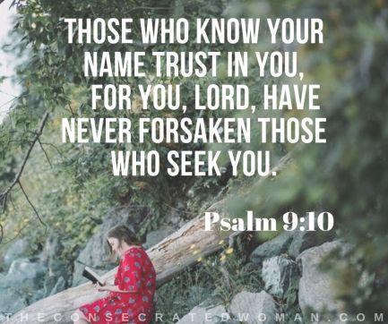 Image result for (Psalm 9:10 ESV