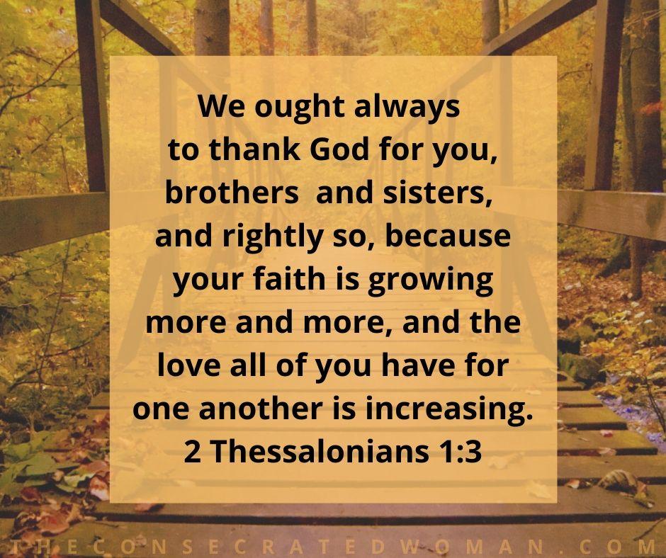 2 Thessalonians 1 3
