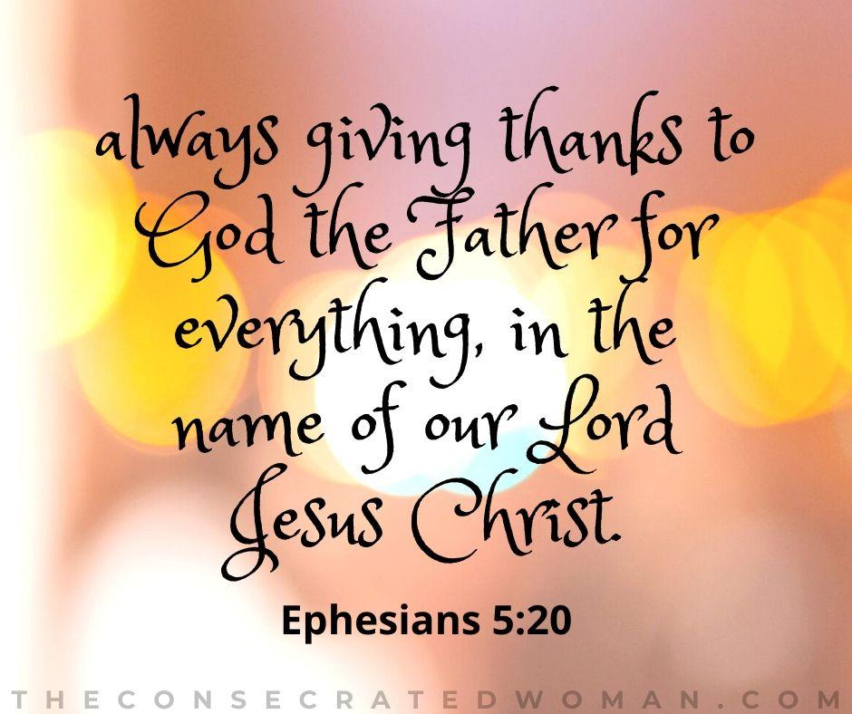 Ephesians 5 20