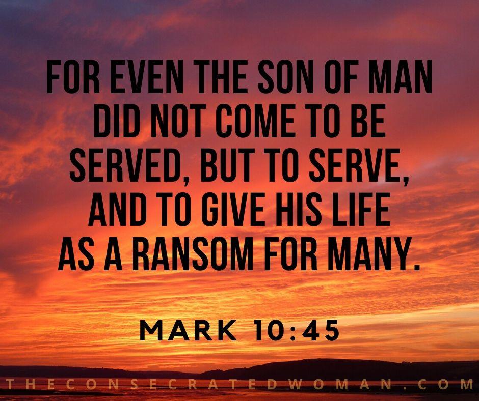 Mark 10 45