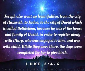 Luke 2 4-6