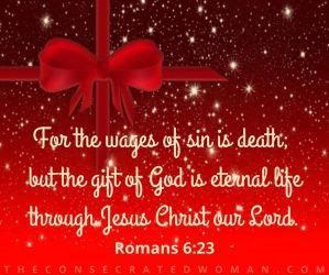 Romans 6 23 christmas