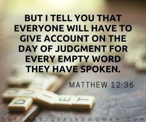 Matthew 12 36