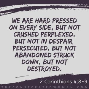 2 Corinthians 4 8-9