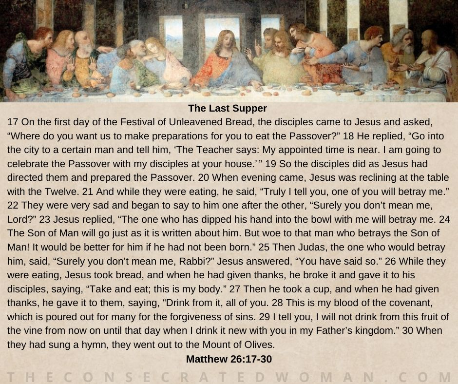 Matthew 26 17-30 the Last Supper