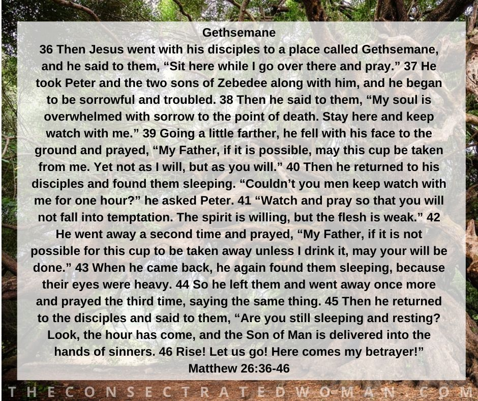Matthew 26 36-46