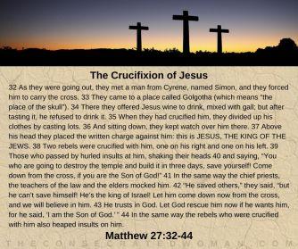 Matthew 27 32-44