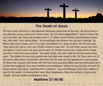 Matthew 27 45-56