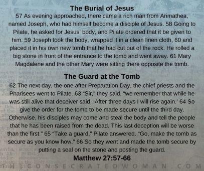 Matthew 27 57-66