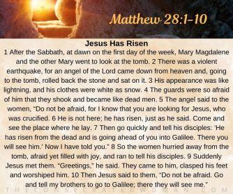 Matthew 28 1-10