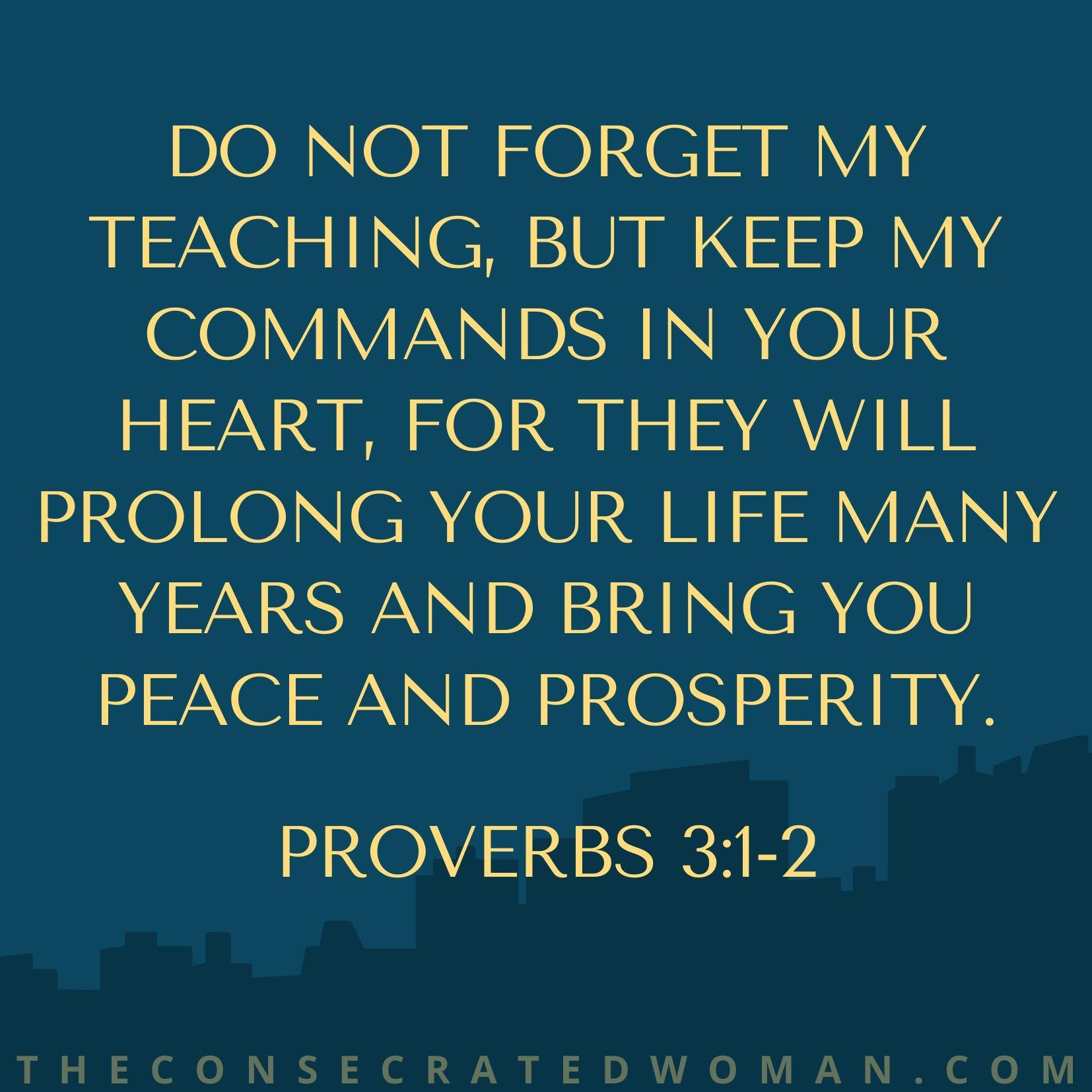 proverbs 3 1-2