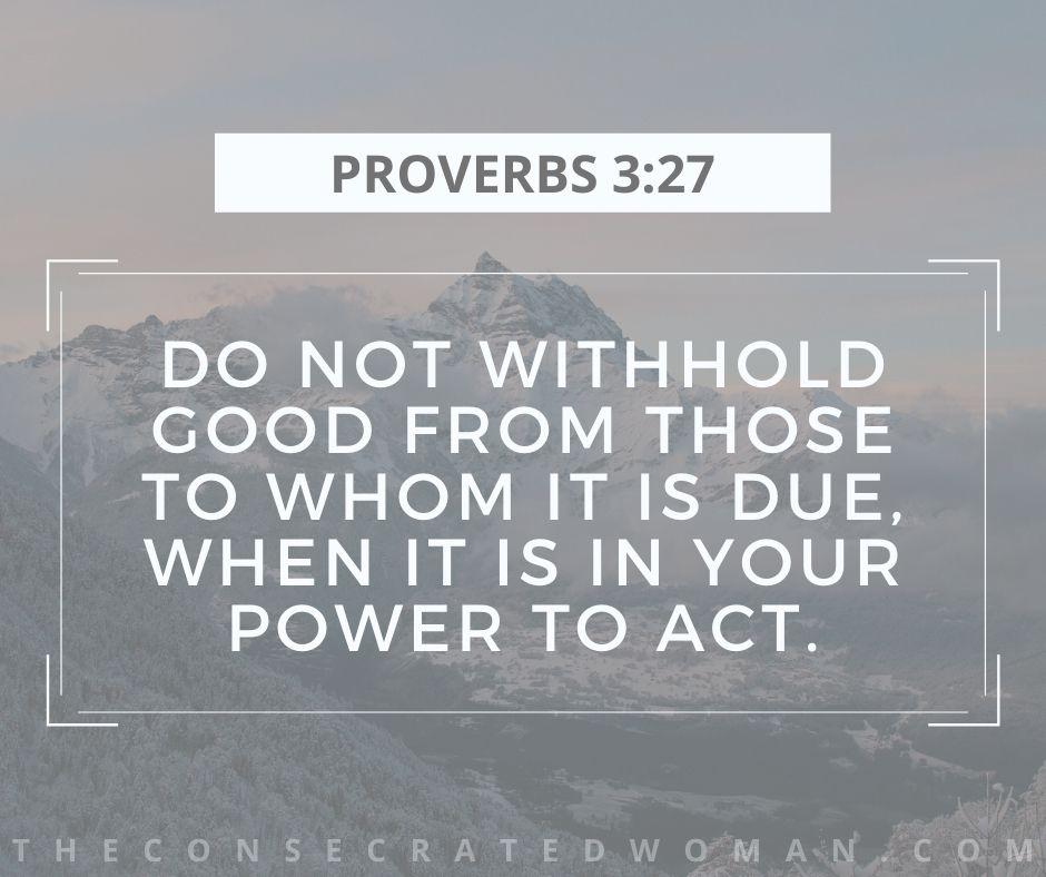 Proverbs 3 27