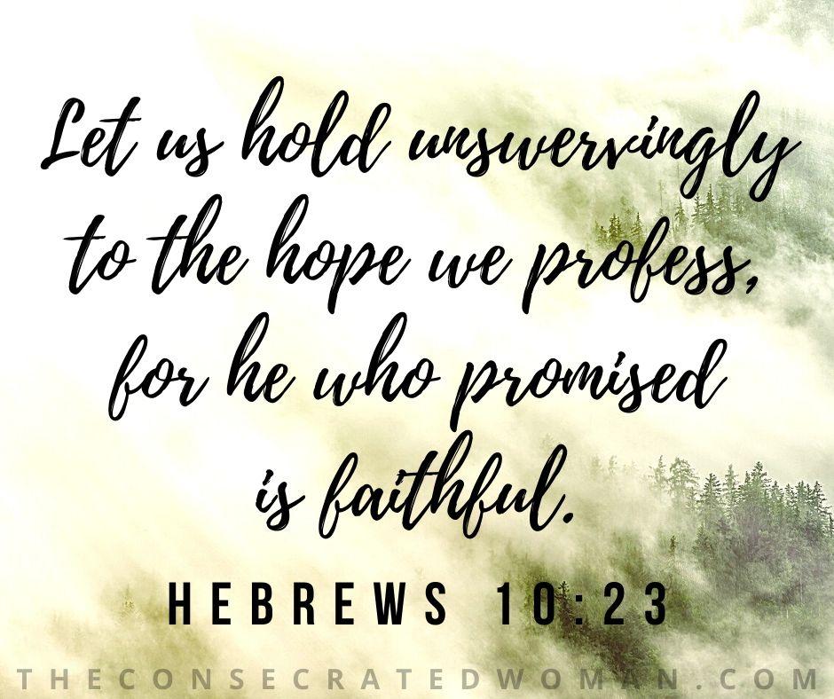 Hebrews 10 23 2
