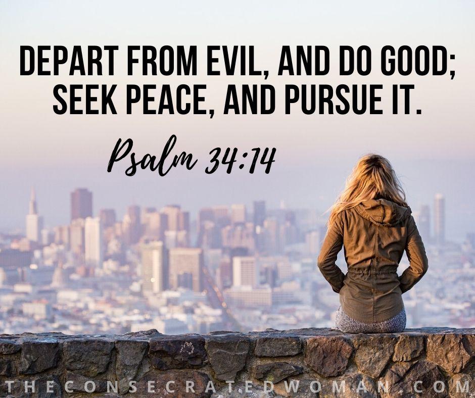 Psalm 34 14