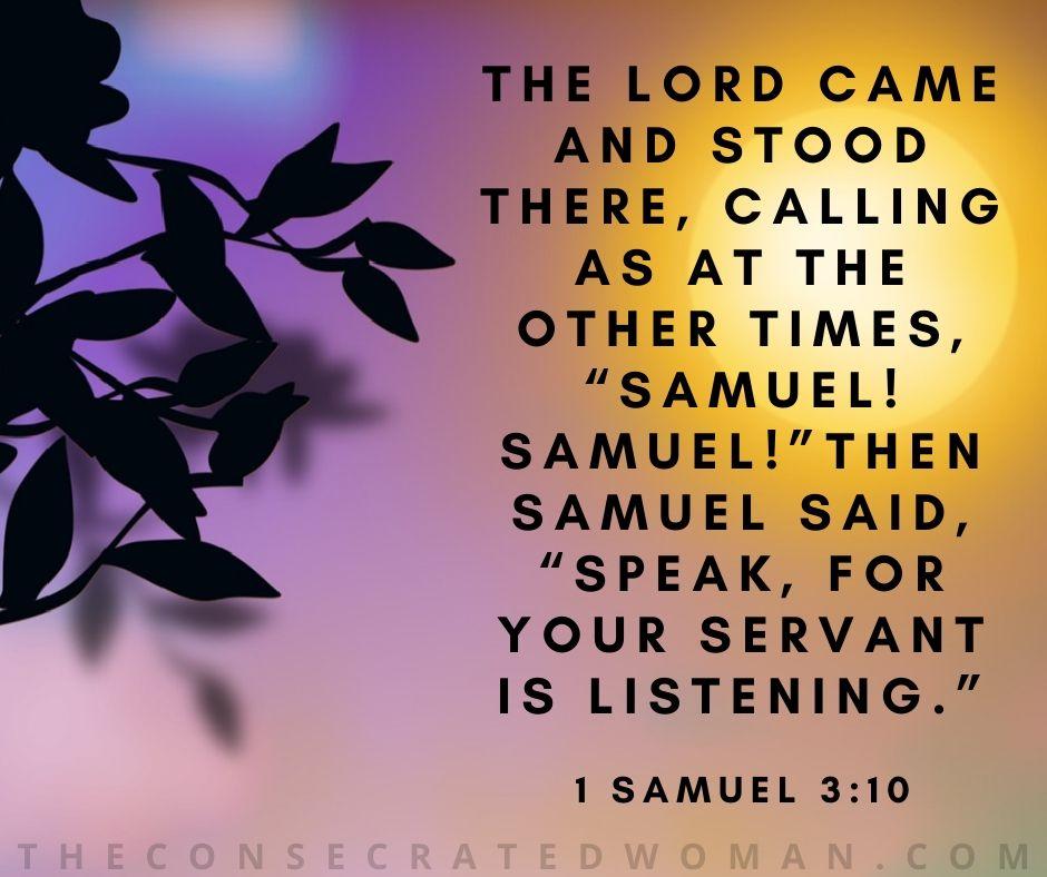 1 Samuel 3 10
