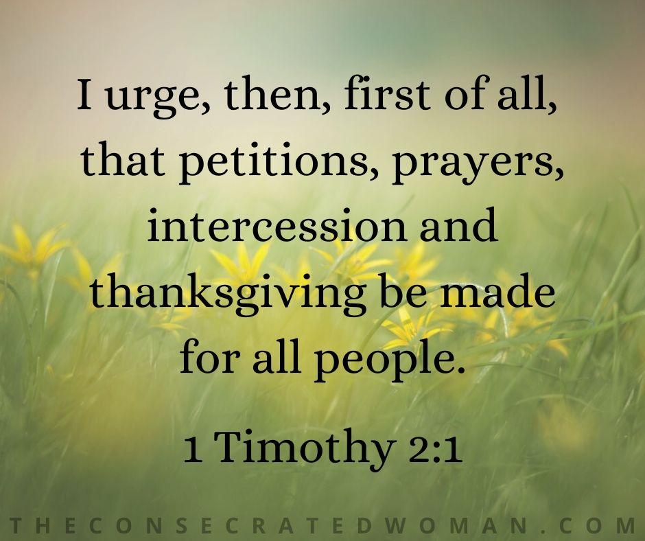 1 Timothy 2 1